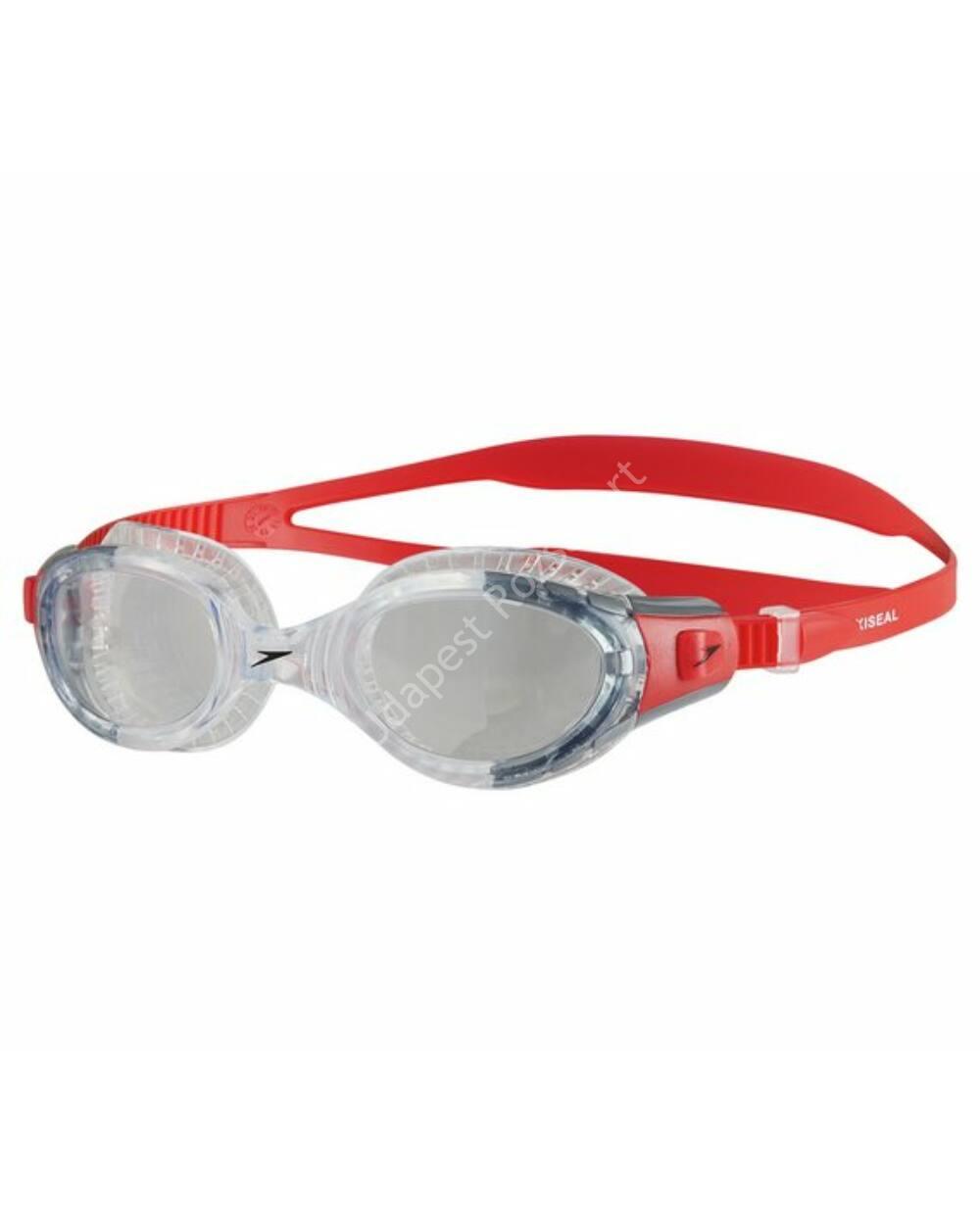 Speedo futura biofuse flexiseal úszószemüveg, átlátszó-piros