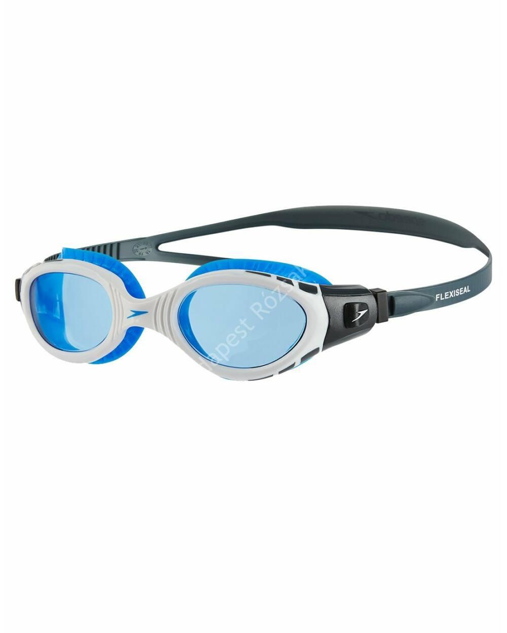 Speedo futura biofuse flexiseal úszószemüveg, fehér-kék