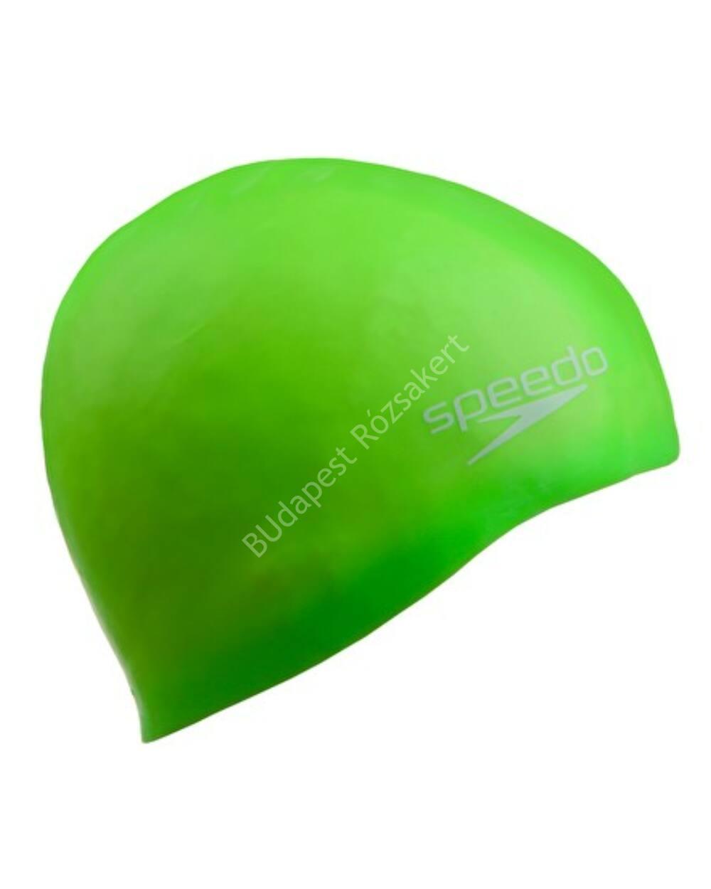 Speedo Junior Plain Moulded Silicone Cap úszósapka, neonzöld