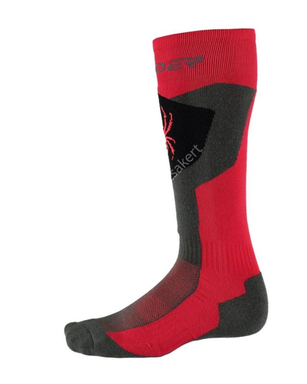 Spyder Discover férfi sízokni, piros/szürke/fekete, 38-41