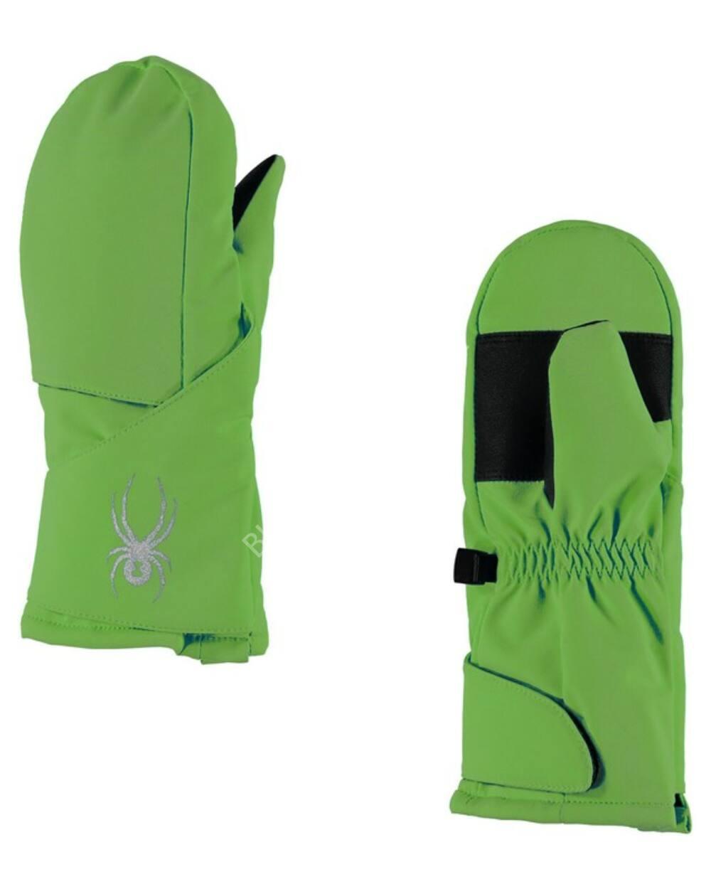 Spyder Cubby egyujjas gyerek síkesztyű, zöld