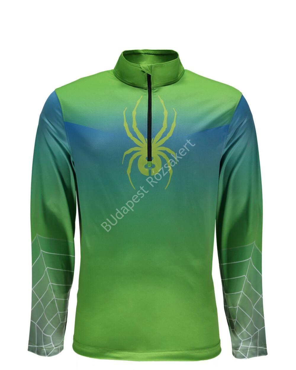 6e5c14be46 Spyder Limitless 1/4 zip DryWeb férfi aláöltözet felső, zöld-kék - a ...