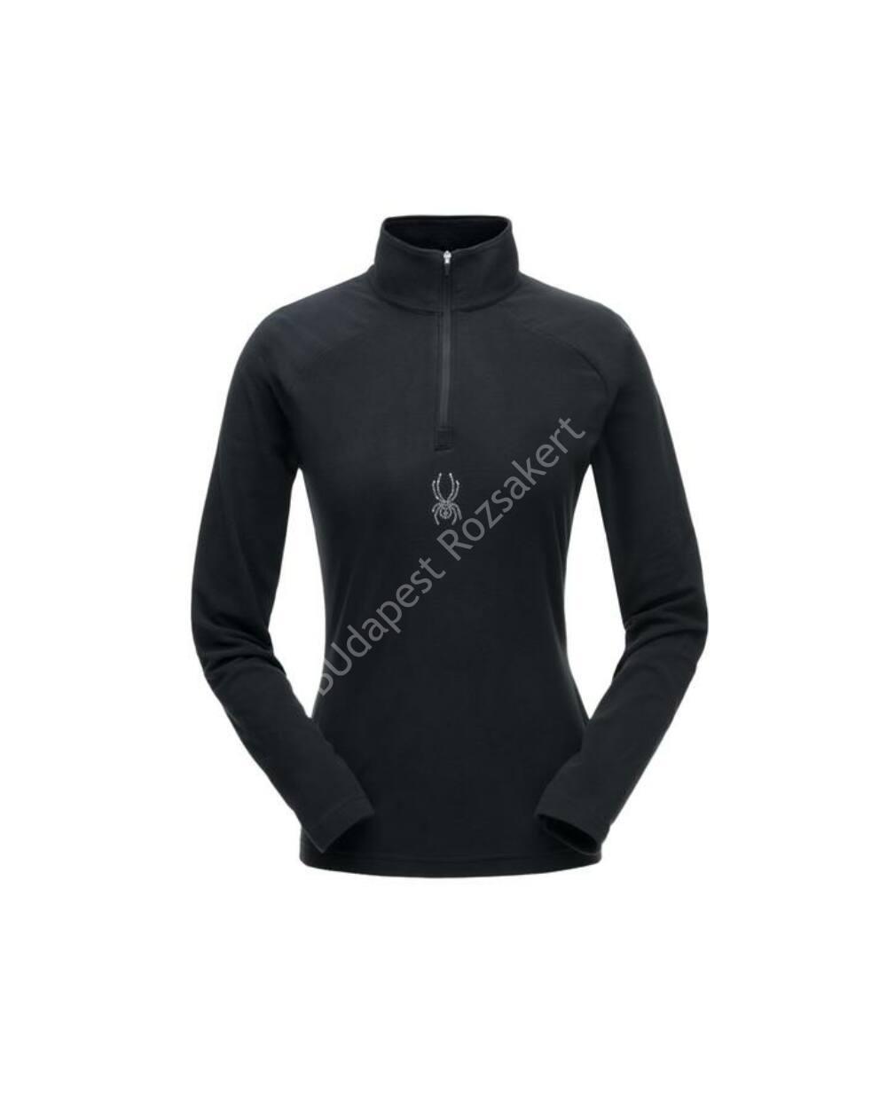 Spyder Shimmer Zip T-Neck női polár felső, fekete