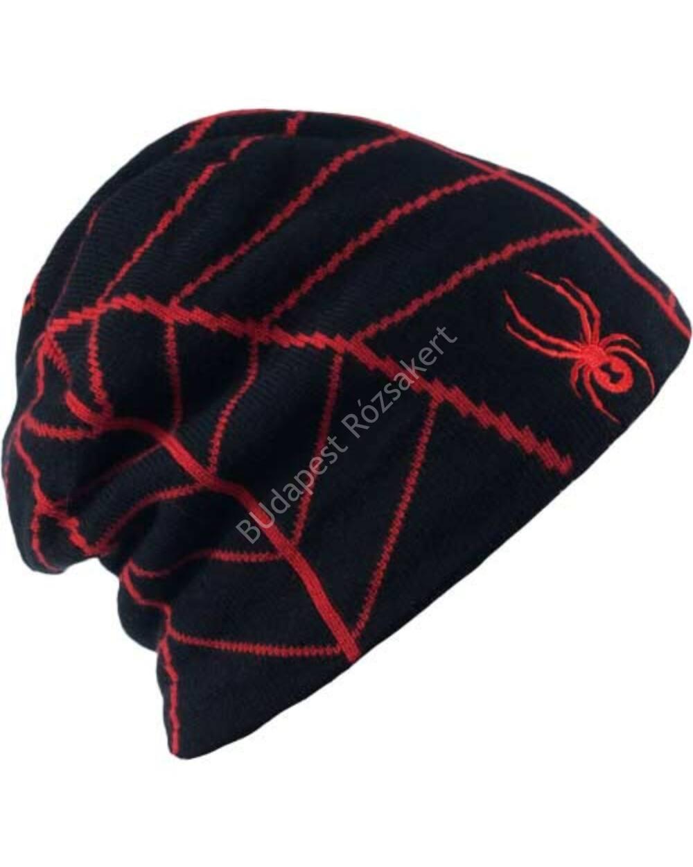 Spyder Web férfi sísapka, fekete-piros