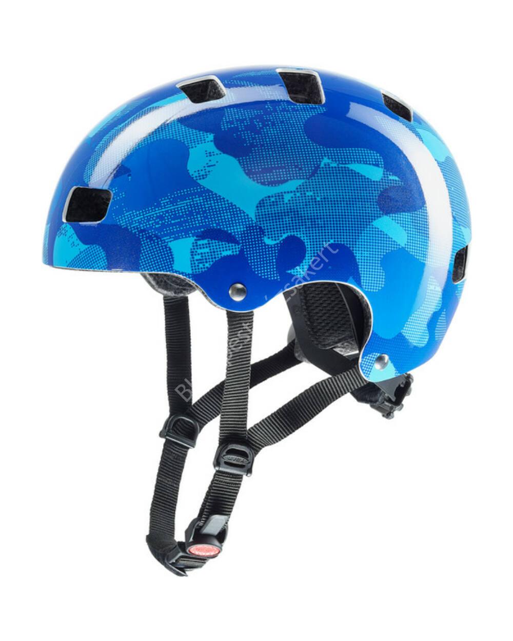 Uvex kid 3 dirtbike bukósisak, blue camo, 51-55 cm