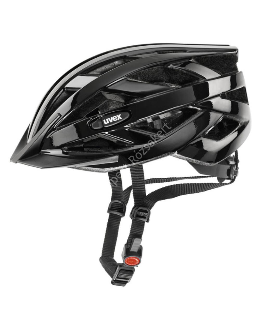 Uvex I-VO kerékpáros bukósisak, fekete, 56-60 cm