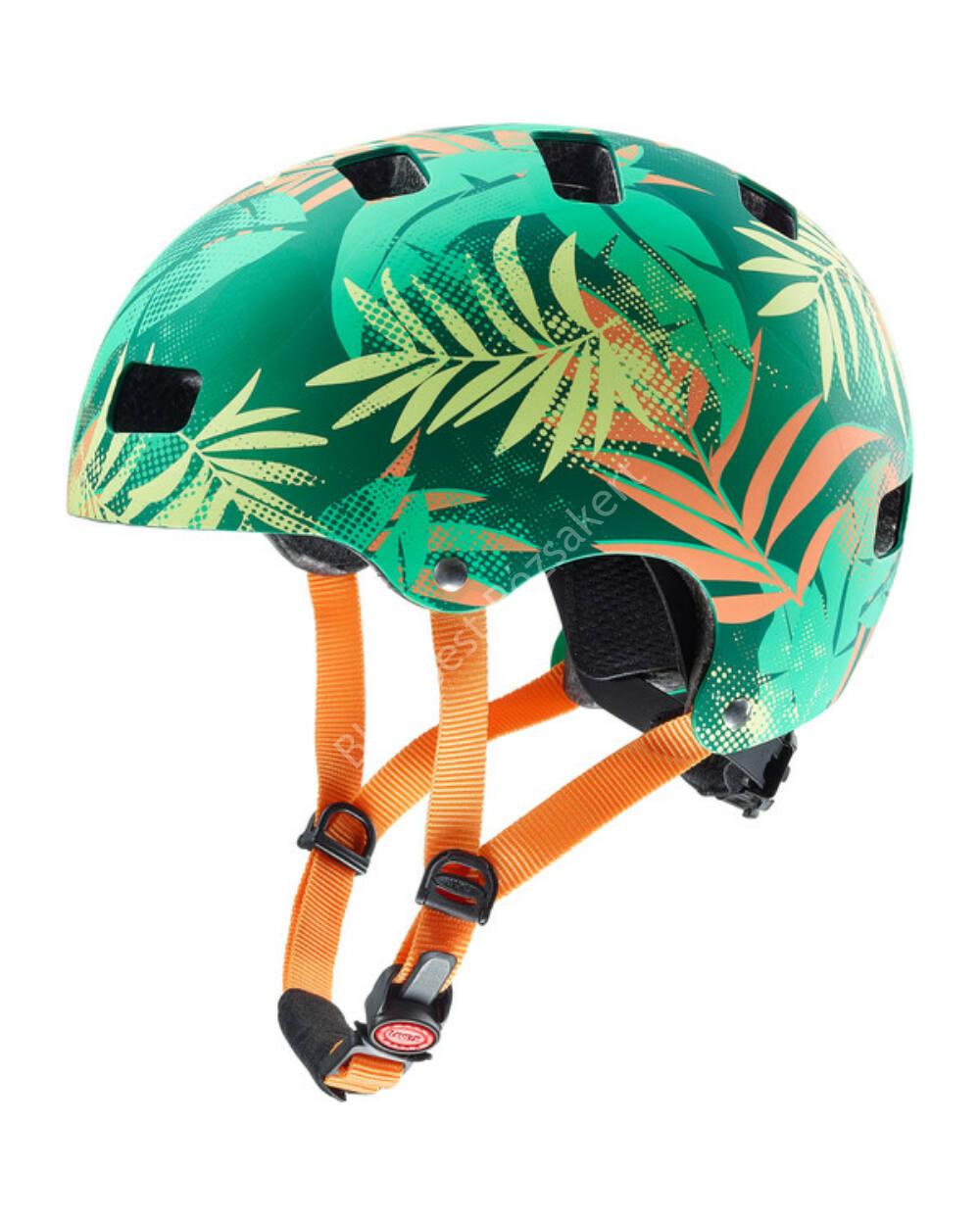 Uvex kid 3 CC dirtbike bukósisak, green-orange, 51-55 cm