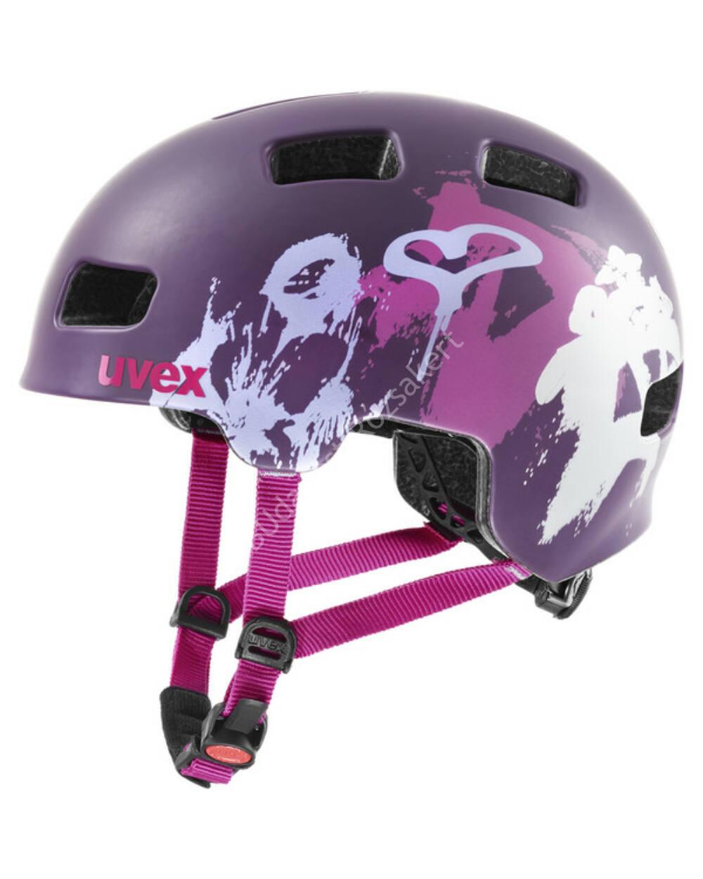 Uvex Hlmt 4 CC purple mat bukósisak, 55-58 cm