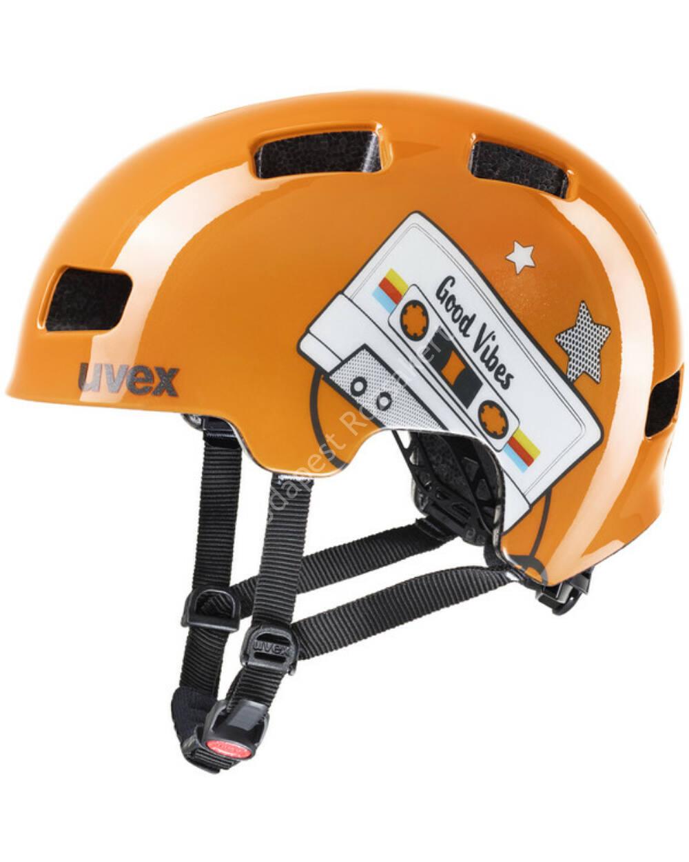 Uvex Hlmt 4 orange tape bukósisak, 55-58 cm