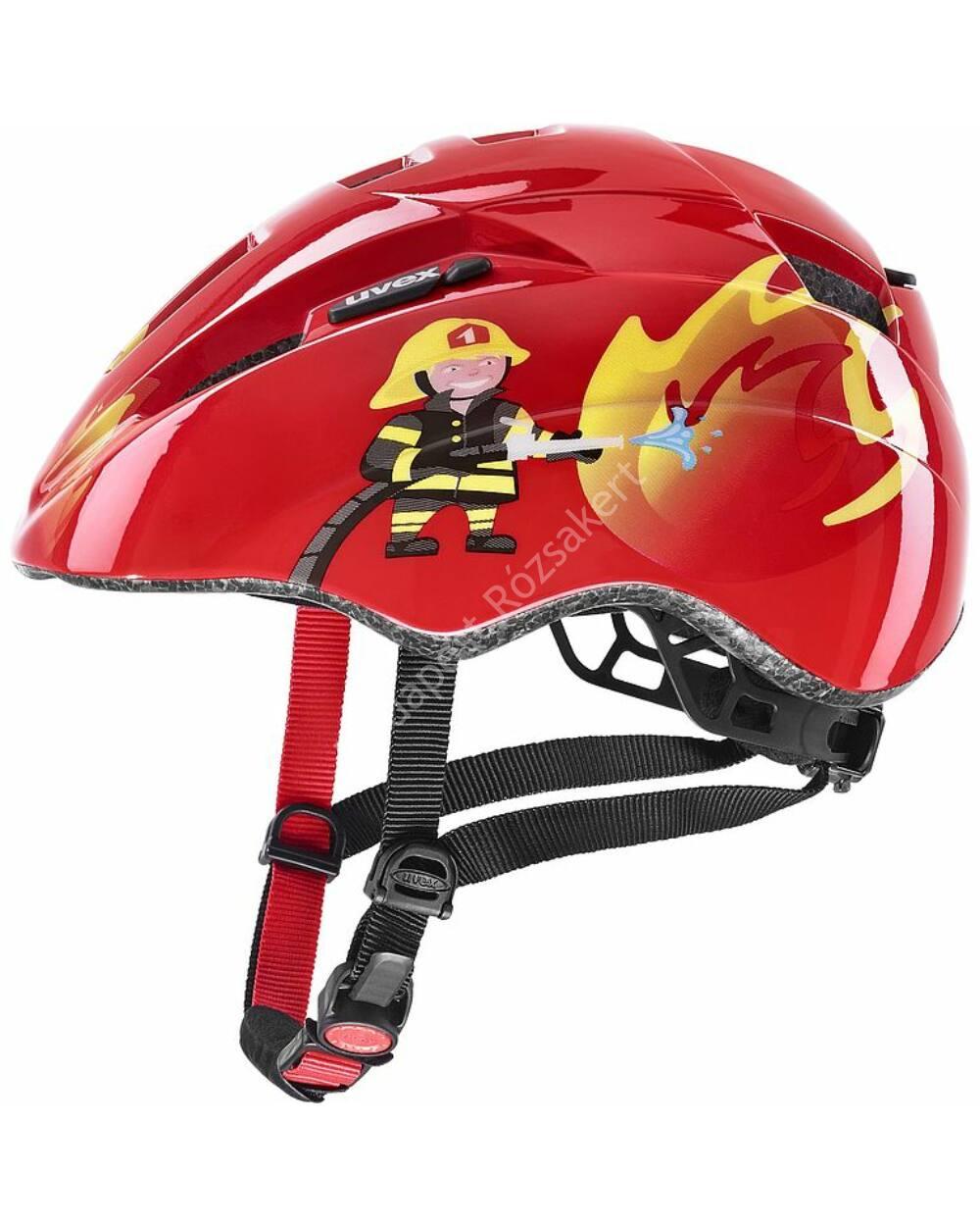 Uvex Kid 2 red fireman bukósisak, 46-52cm
