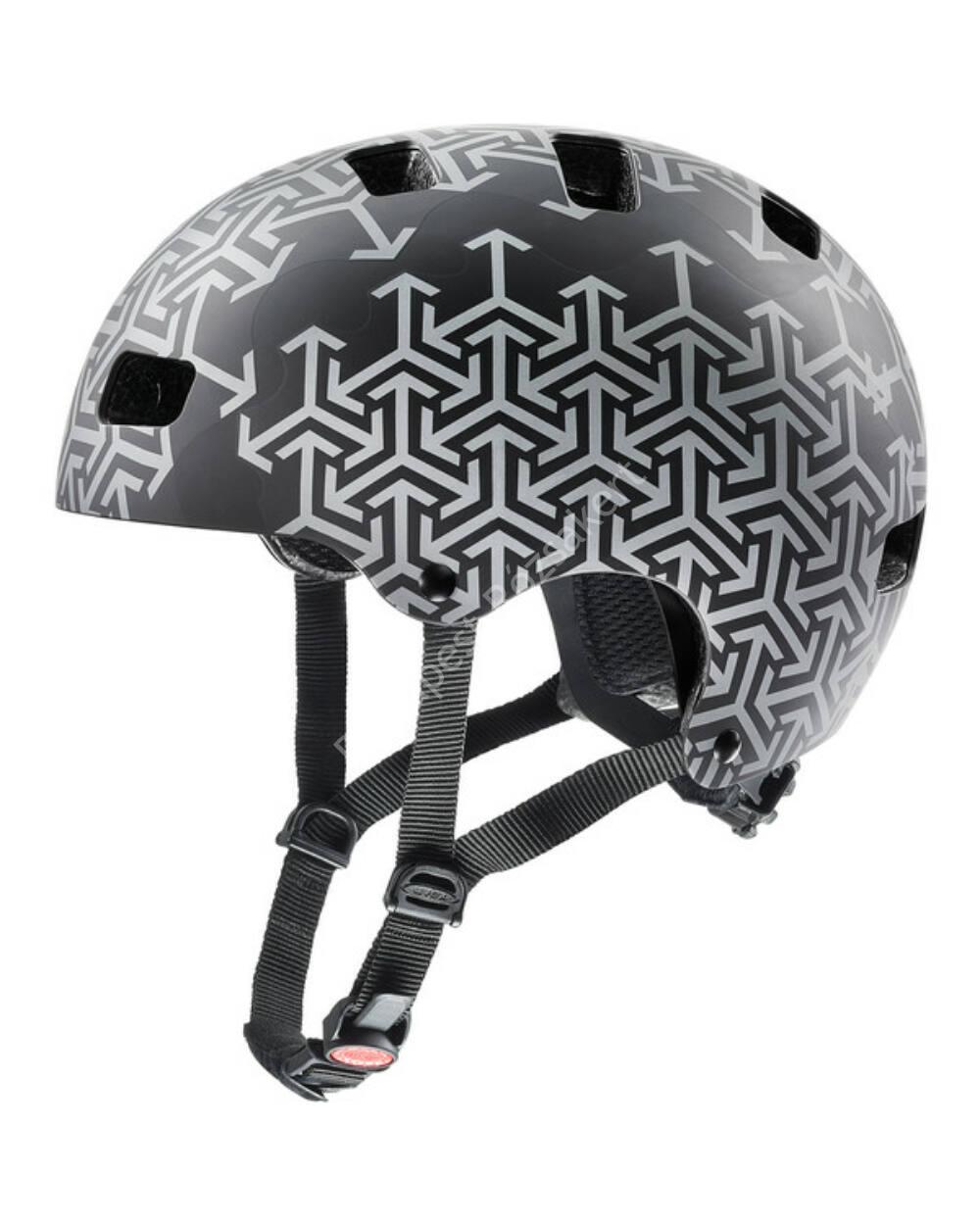 Uvex Kid 3 CC black-silver bukósisak, 51-55 cm
