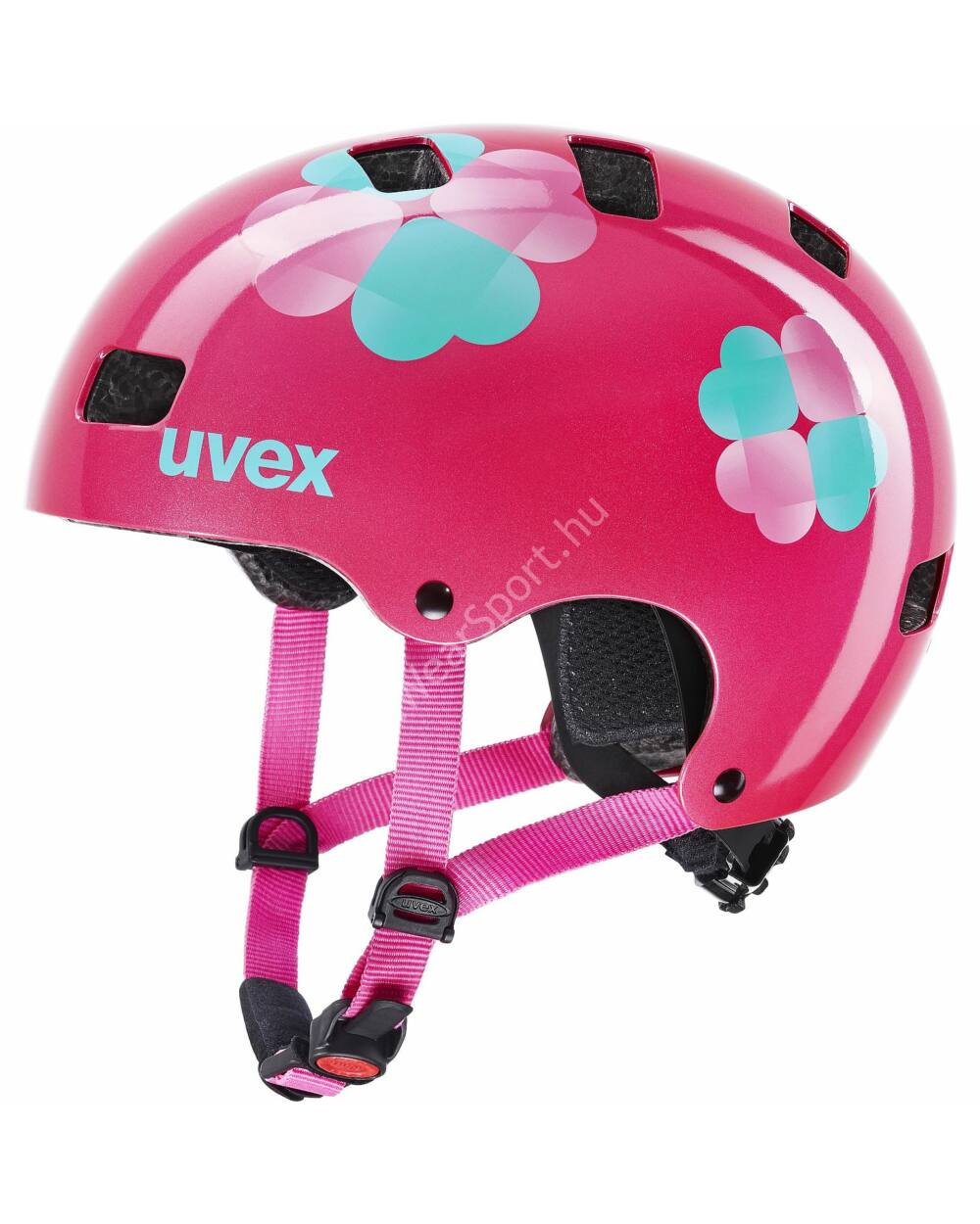 Uvex Kid 3 pink flower bukósisak, 51-55 cm