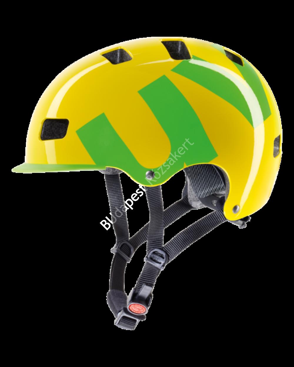 Uvex HLMT 5 bike pro bukósisak, sárga-zöld, 55-58 cm