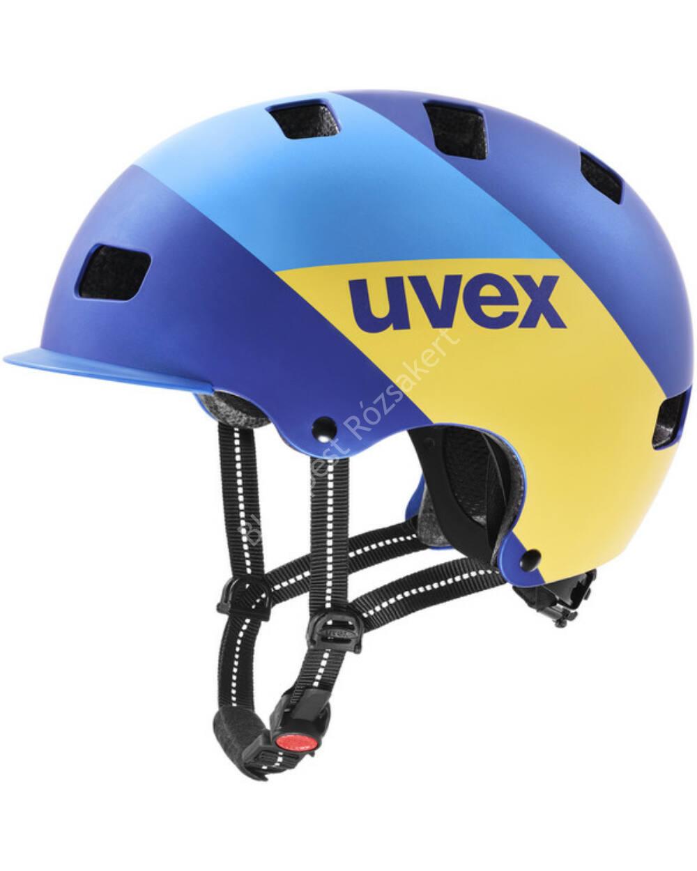 Uvex HLMT 5 bike pro bukósisak, blue energy mat, 55-58 cm