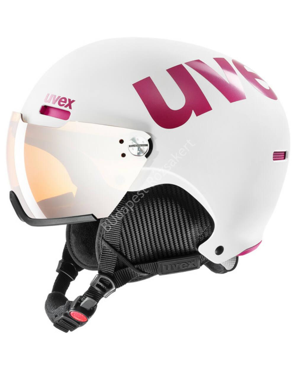 Uvex Hlmt 500 Visor white-pink mat sísisak, 52-55 cm