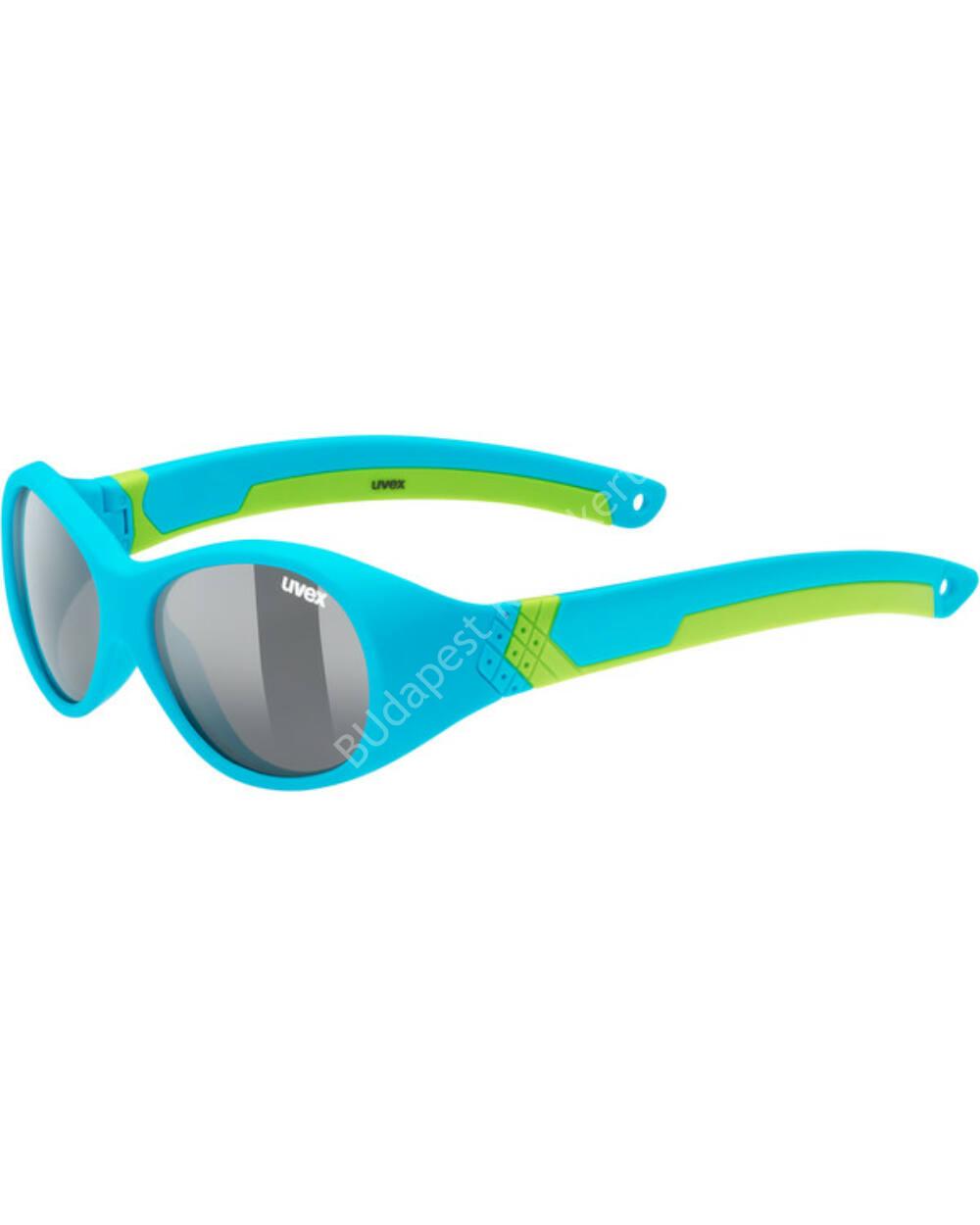 Uvex sportstyle 510 UV-védős sportszemüveg 1-3 éves, kék-neonzöld