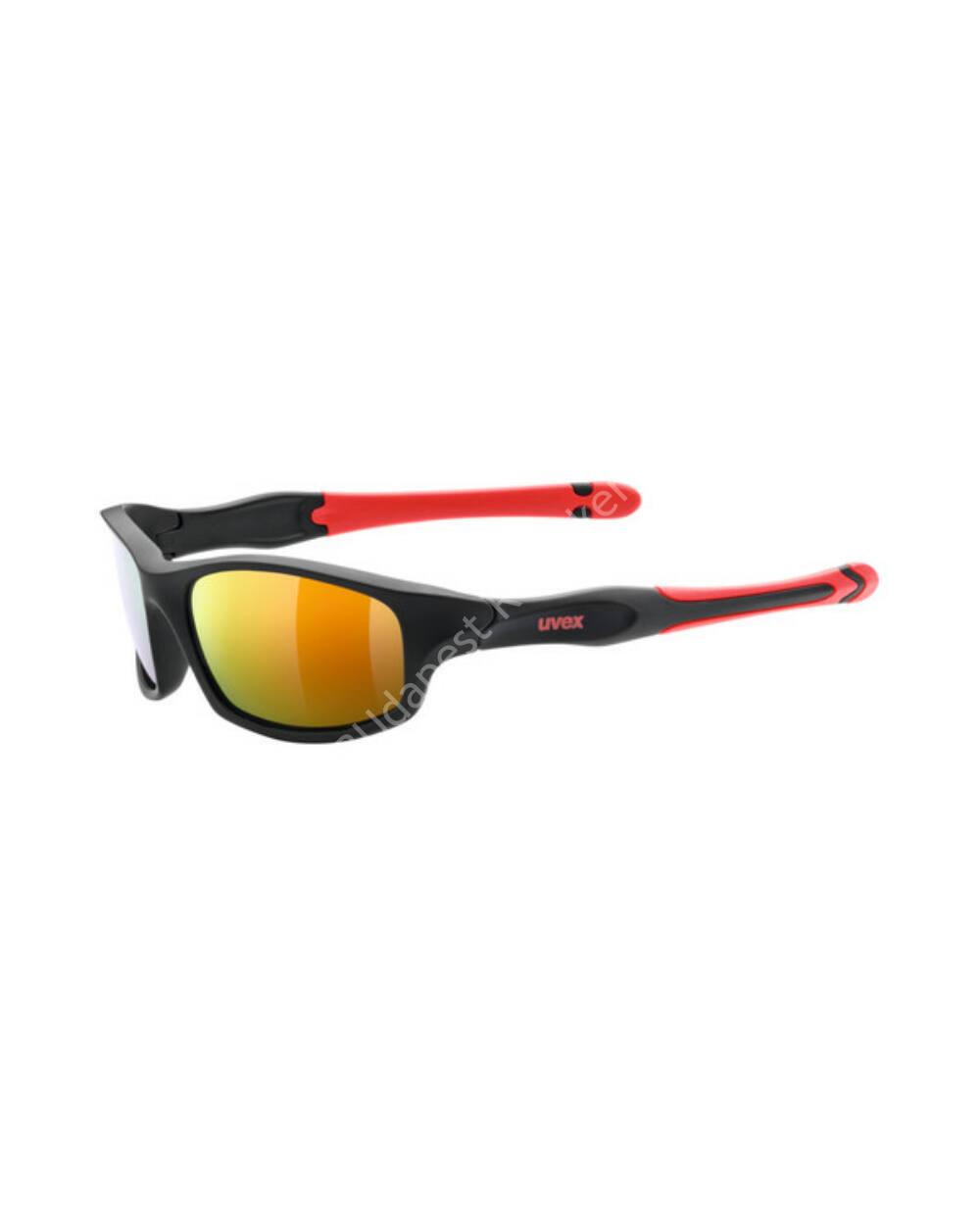Uvex Sportstyle 507 gyerek napszemüveg, black-red