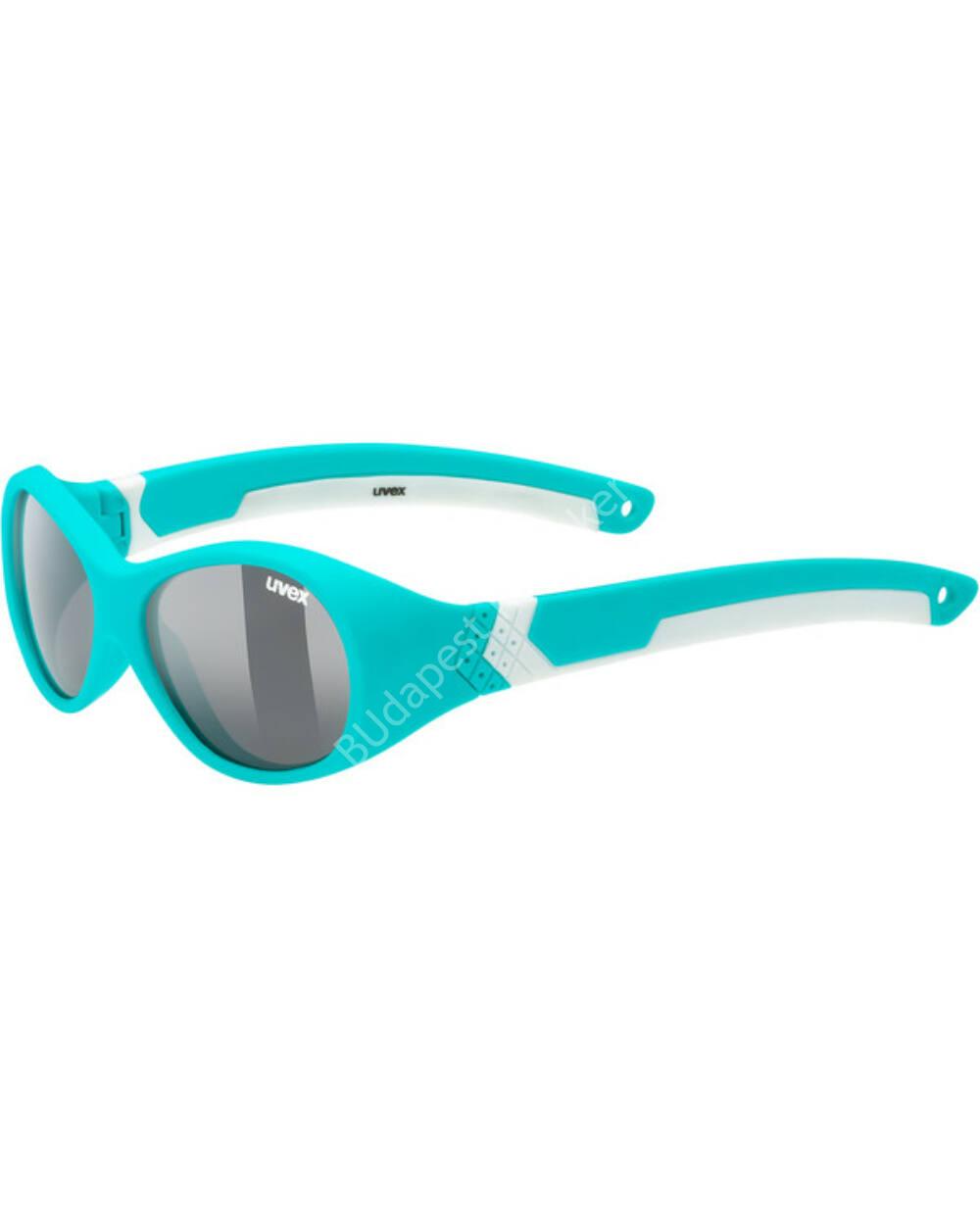 Uvex sportstyle 510 UV-védős sportszemüveg 1-3 éves, türkiz-fehér