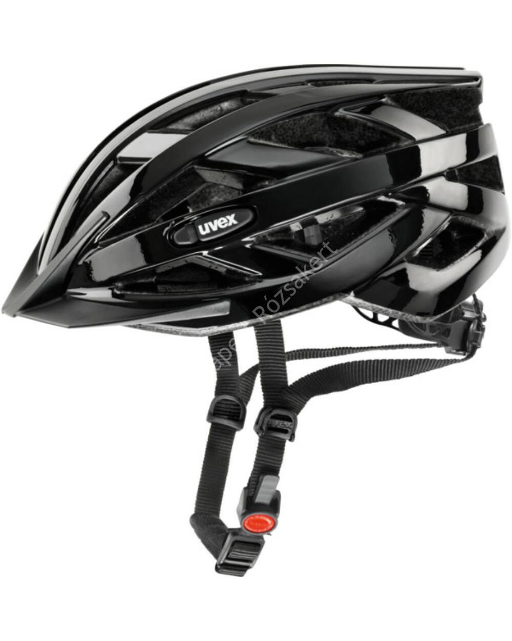 Uvex I-VO kerékpáros bukósisak, fekete, 52-57 cm