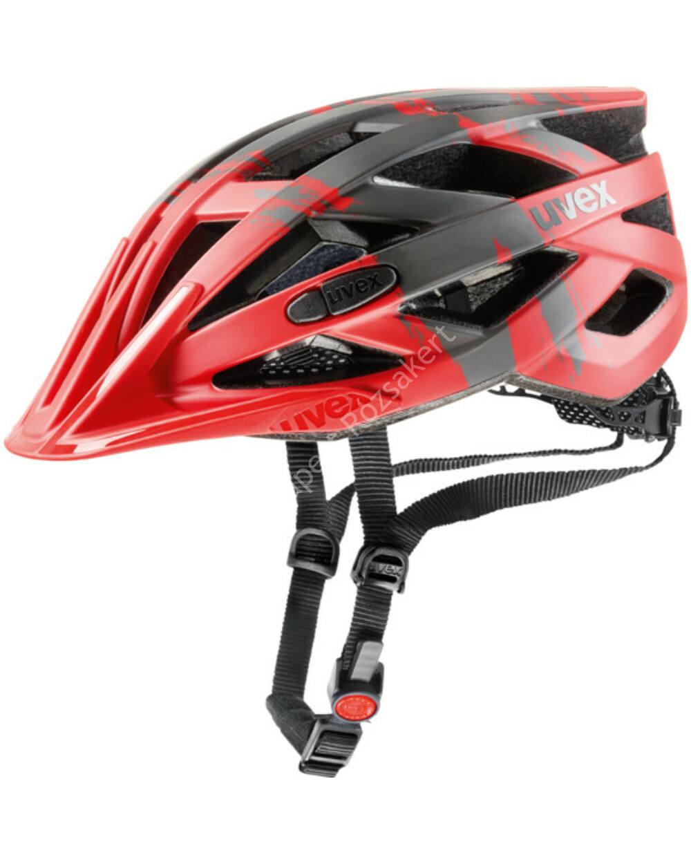 Uvex I-VO CC kerékpáros bukósisak, piros-sötét ezüst, 56-60 cm
