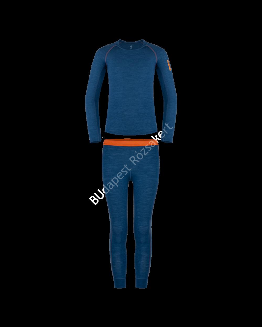 Zajo Elf Kids Merino gyerek merinói gyapjú aláöltözet szett, poseidon blue, 86-92 cm