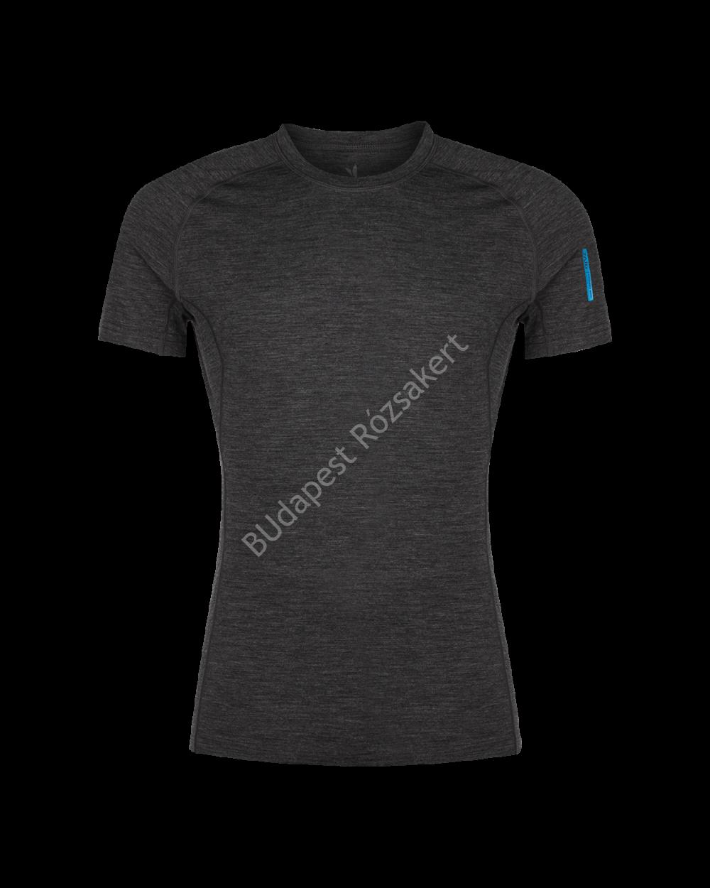 Zajo Bjorn Merino Tshirt SS férfi merinói gyapjú aláöltözet felső, fekete