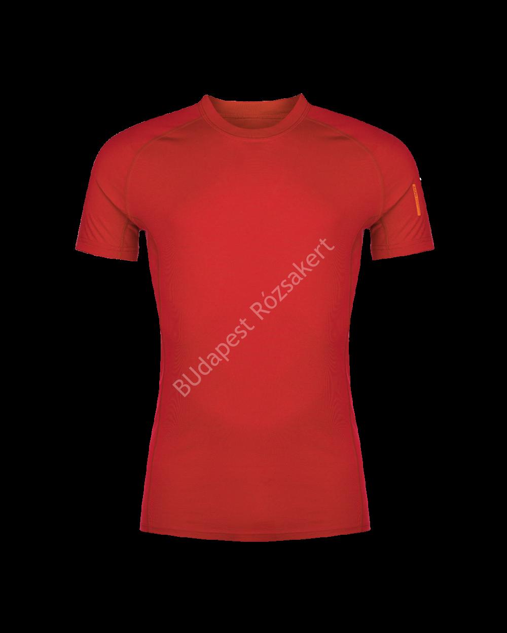 Zajo Bjorn Merino Tshirt SS férfi merinói gyapjú aláöltözet felső, piros