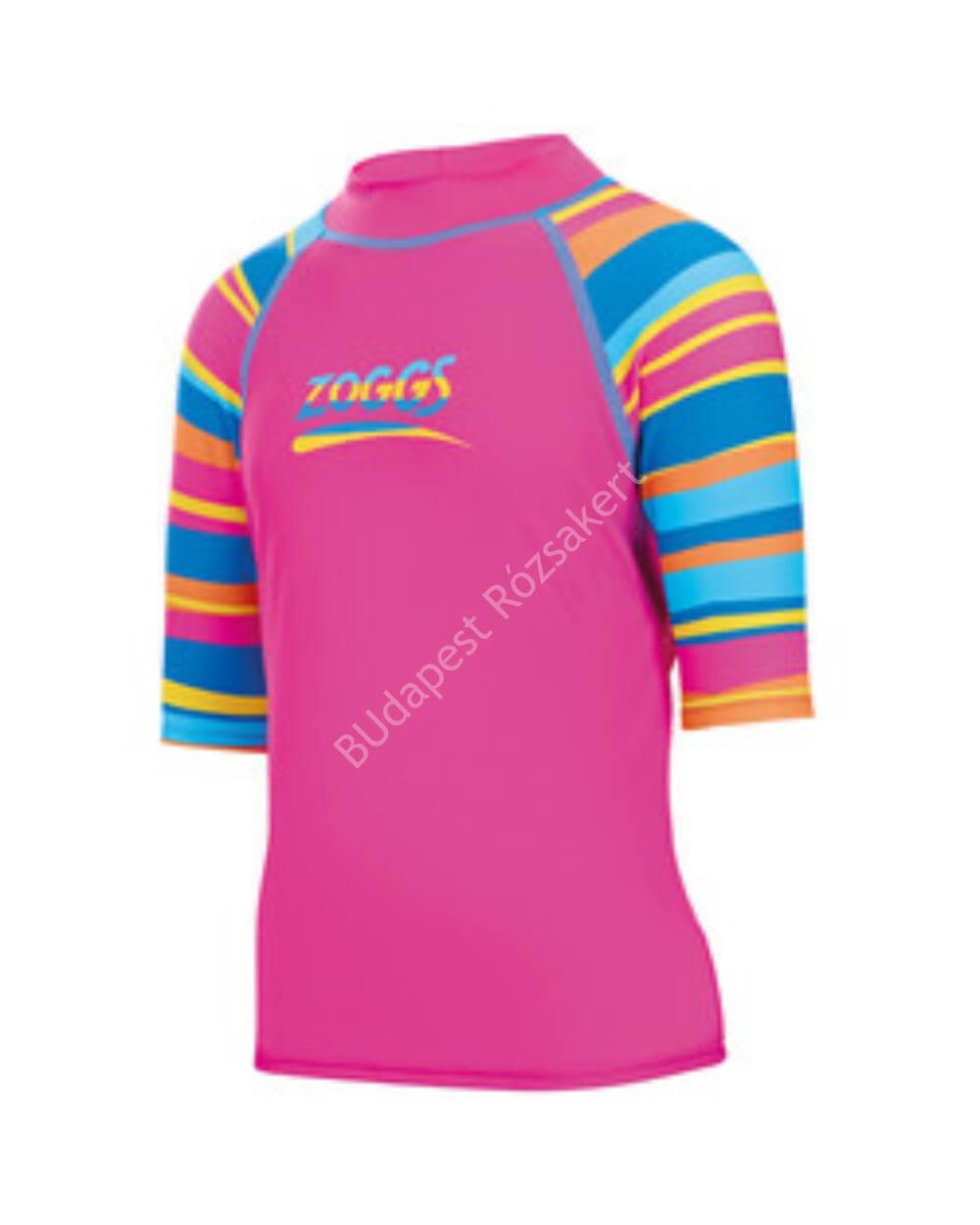 Zoggs Folk Tale Sun Top póló UV-sugárzás ellen, pink, 164