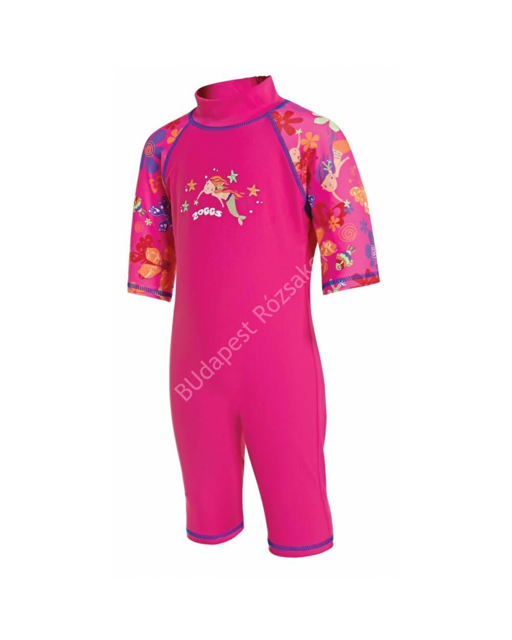 Zoggs Mermaid Flower UV-sugárzás elleni gyermek úszóruha, pink, 1-2 éves
