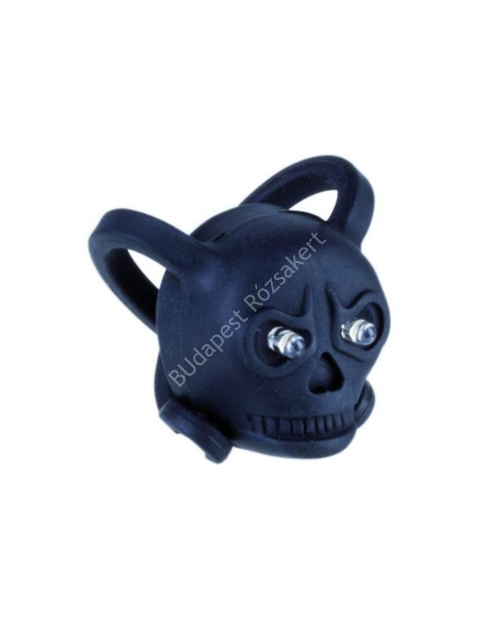 Szilikon első lámpa mini skull, fekete