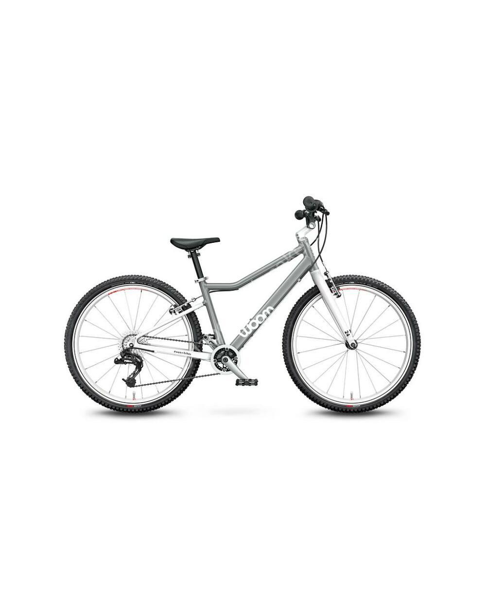 """Woom 5 MOON GREY 24"""" gyerek kerékpár, 125-145 cm testmagasság, 8.2kg"""
