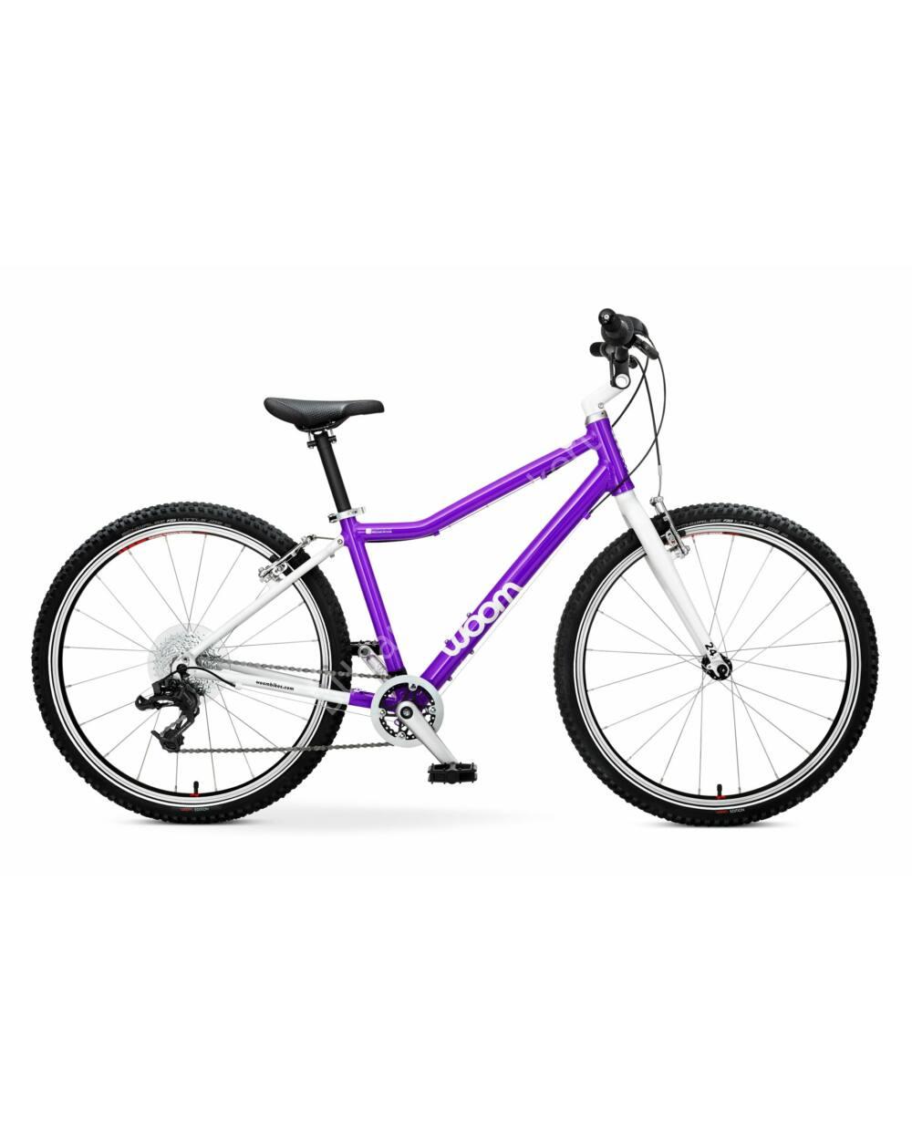 """Woom 5 lila 24"""" gyerek kerékpár, 125-145 cm testmagasság, 8.2kg"""