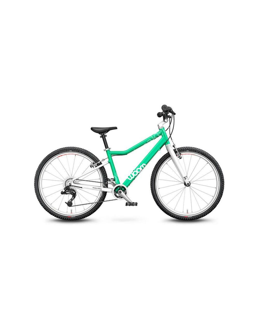 """Woom 5 MENTA 24"""" gyerek kerékpár, 125-145 cm testmagasság, 8.2kg"""