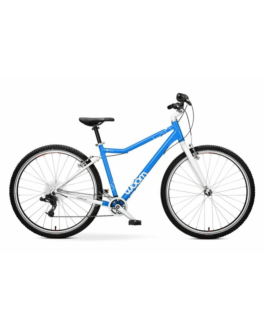 """Woom 6 kék 26"""" kerékpár, 140-165 cm testmagasság, 9.2 kg"""
