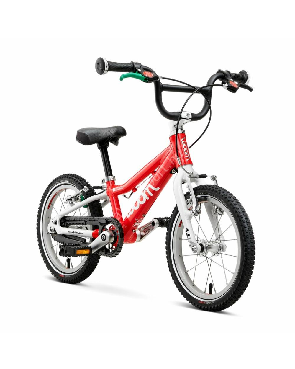 "Woom 2 piros 14"" gyerek kerékpár, 95-110 cm testmagasság, 5.1 kg"
