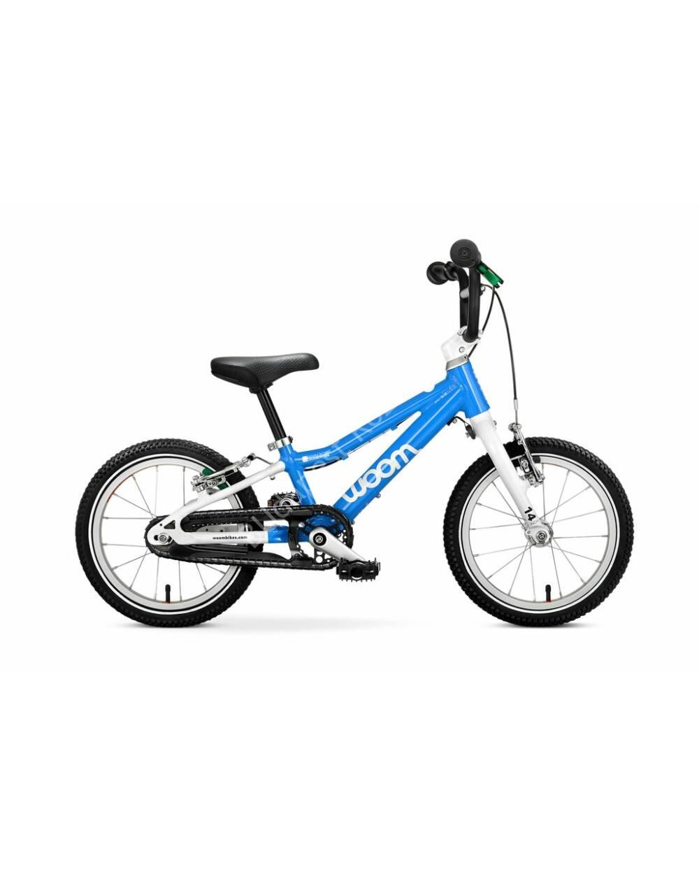 """Woom 2  kék 14"""" gyerek kerékpár, 95-110 cm testmagasság, 5.1 kg"""