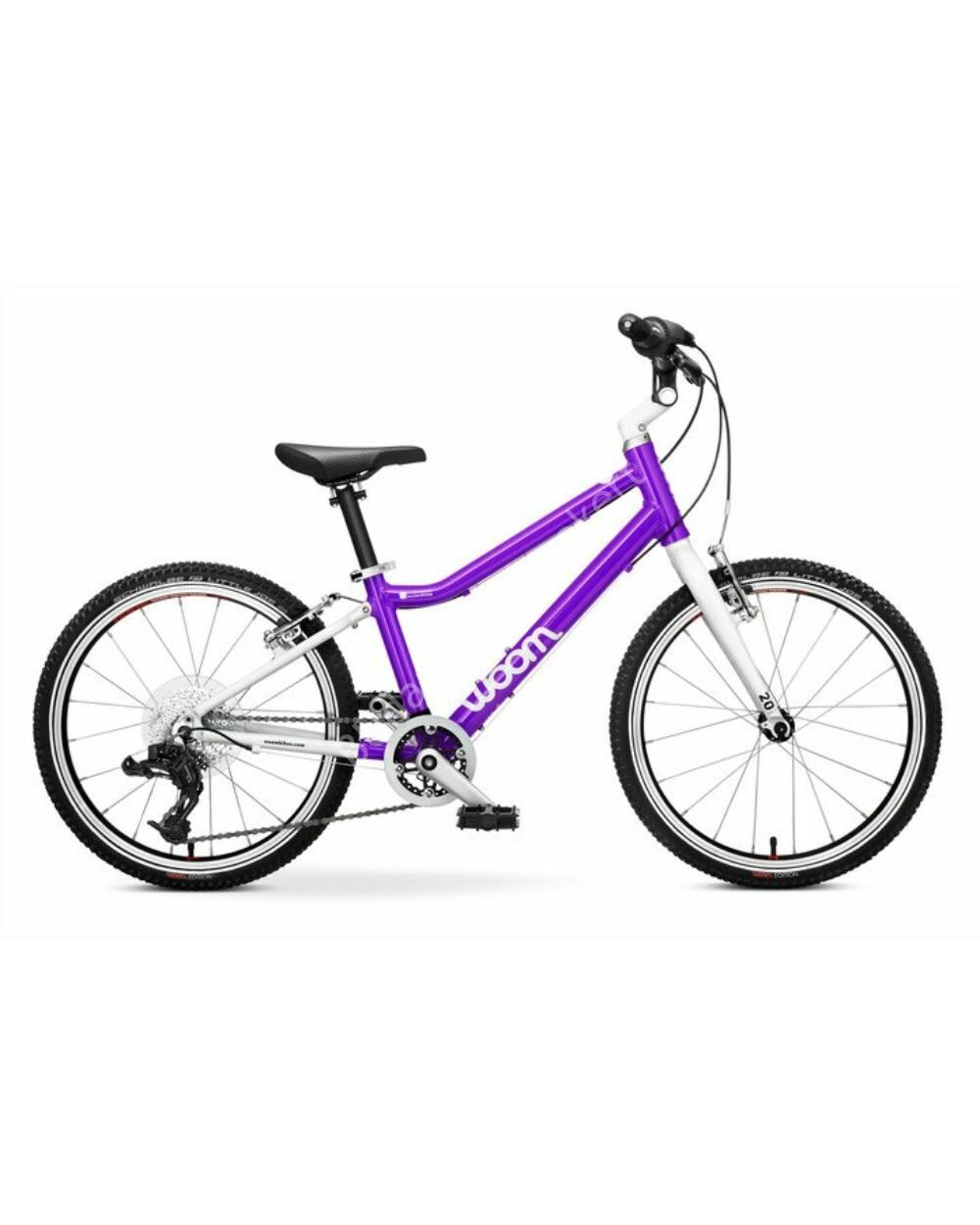 """Woom 4 lila 20"""" gyerek kerékpár, 115-130 cm testmagasság, 7.3kg"""