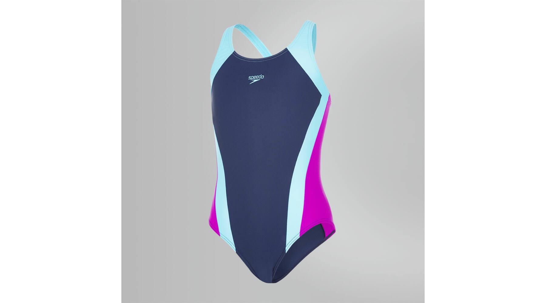 Speedo Constrast Panel Splashback lány úszódressz e61c8b042f