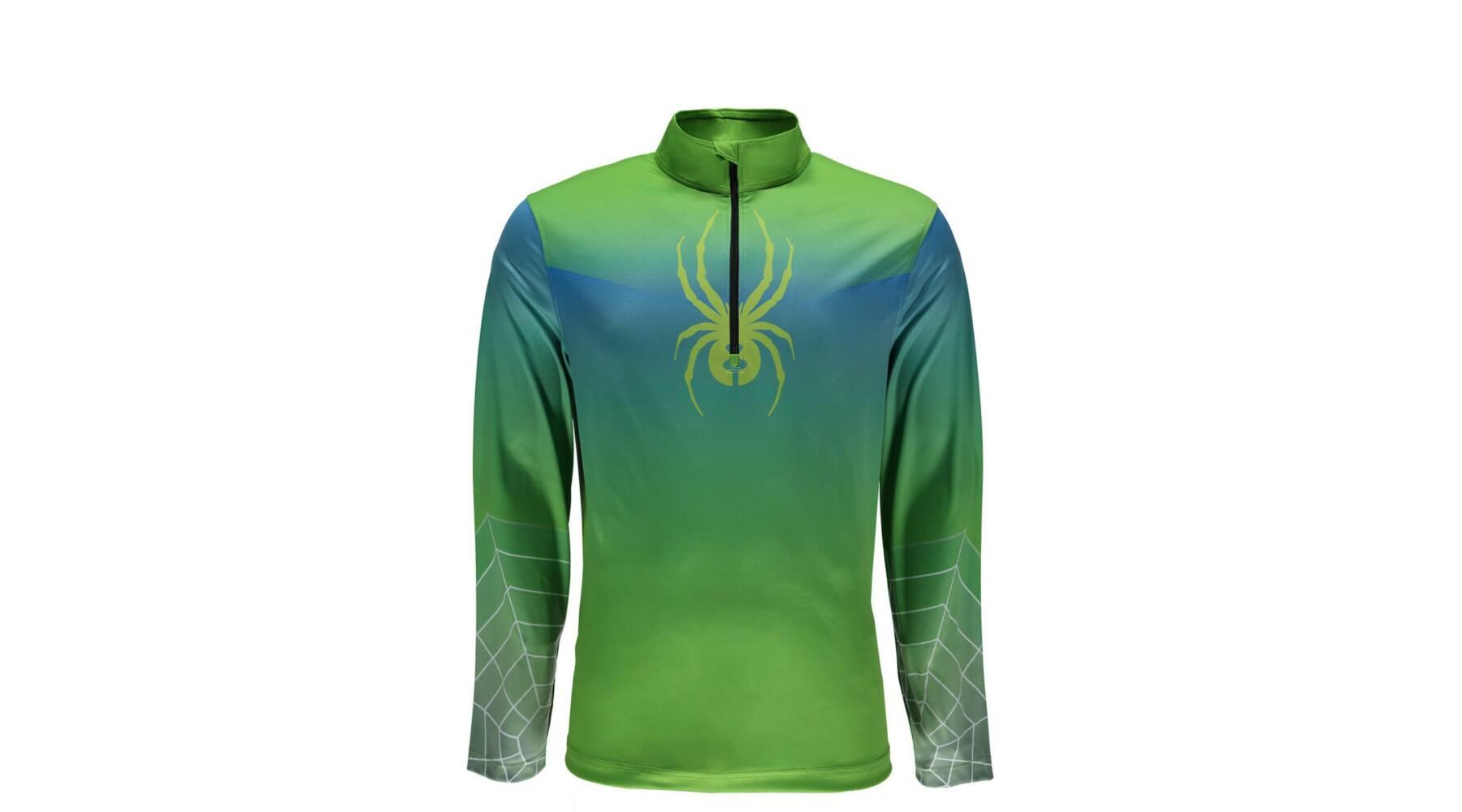 9efc20c8bb Spyder Limitless 1/4 zip DryWeb férfi aláöltözet felső, zöld-kék - a-Wear  Sport - Roller, kerékpár, bukósisak, túraruházat