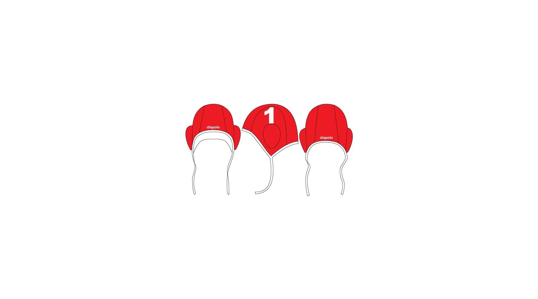 6dcf83e3d0 Diapolo Piros-fehér vízilabda sapka, 14 számmal - a-Wear Sport ...