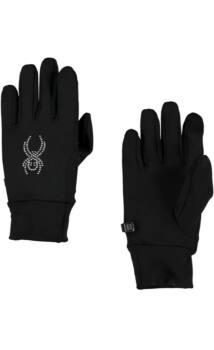 Spyder Stretch Fleece Conduct női polár kesztyű érintőképernyőhöz, fekete