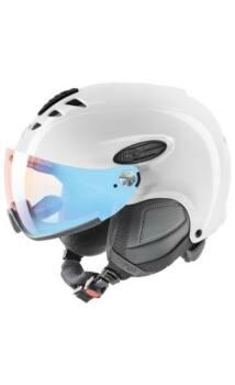 Uvex Hlmt 300 Vario fényre sötétedő visoros SÍSISAK, fehér, 55-58 cm