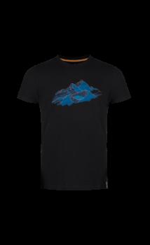 Zajo Bormio T-shirt Nature rövidujjú férfi póló, fekete