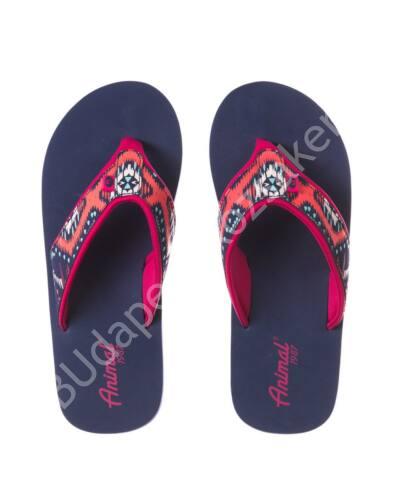 Animal flip-flop papucs nőknek, lila/pink/mintás