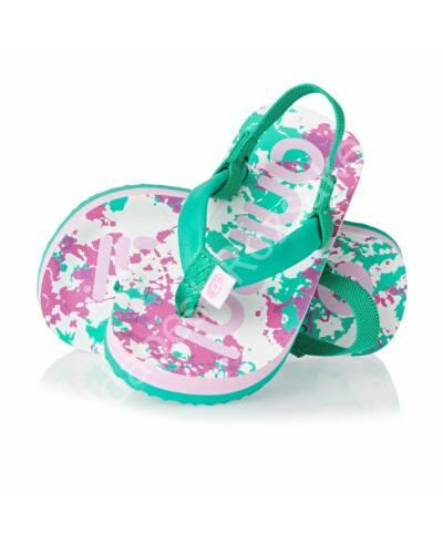 Animal flip-flop szandál, zöld/rózsaszín/fehér