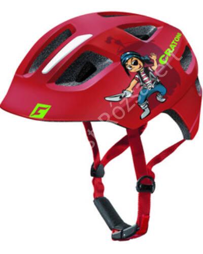 Cratoni Maxster Pirate gyermek bukósisak, piros, 51-56 cm