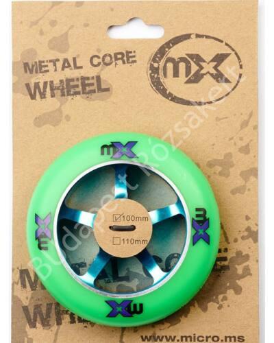 Micro mx trixx roller kerék, 100mm, zöld-kék