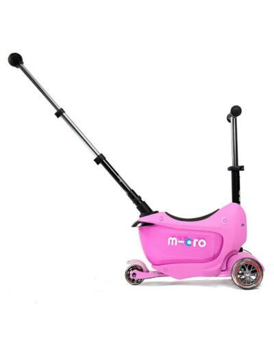 Micro Mini2go Deluxe Plus roller tologató rúddal, pink