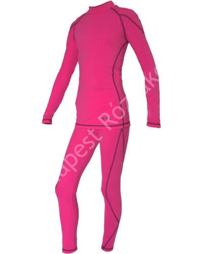 Ozone gyermek téli aláöltözet szett, pink-fekete