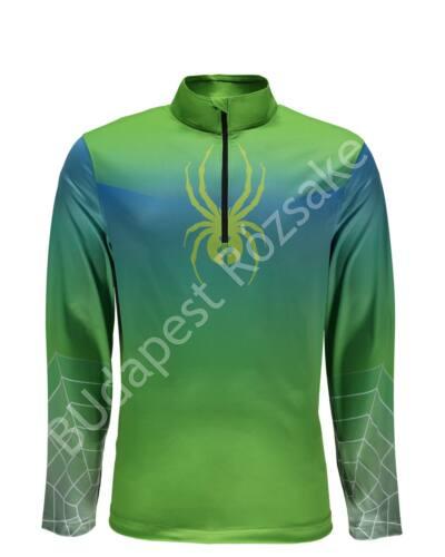 Spyder Limitless 1/4 zip DryWeb férfi aláöltözet felső, zöld-kék
